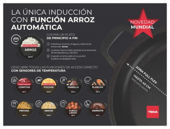 Placa Inducción Teka IZF 68710 MST DirectSense | 112500038 | 60cm 8 Zonas | Premium | Diámetro Top 40cm | Stock | Plancha LeCreuset de Regalo - 3