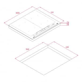 Placa de Inducción Teka Direct Sense IZF 68710 MST (Ref. 112500038) | 60 cm |Zona FullFlex |+ LeCreuset de Regalo | Stock - 11