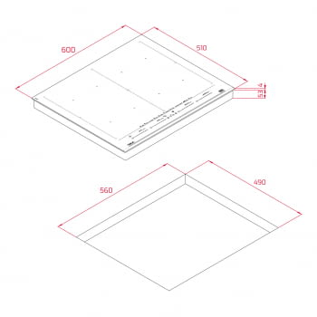 Placa Inducción Teka IZF 68710 MST DirectSense | 112500038 | 60cm 8 Zonas | Premium | Diámetro Top 40cm | Stock | Plancha LeCreuset de Regalo - 14
