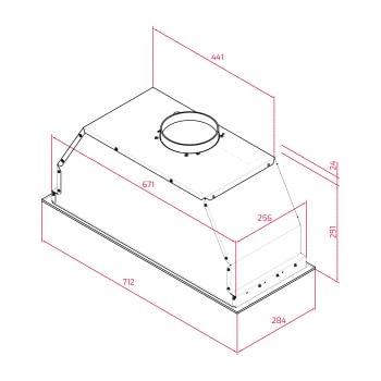 Grupo Filtrante 70cm Teka GFL 77650 EOS IX   Ref. 113100003  Inoxidable 3 velocidades Aspiración 800 m³/h   Clase A - 7