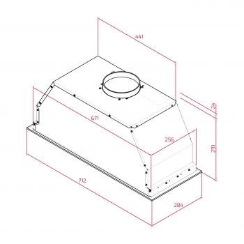 Campana Integrable Teka GFL 77650 EOS IX (Ref. 113100003) Inoxidable con 3 velocidades de máx. 800 m³/h | Clase A - 11