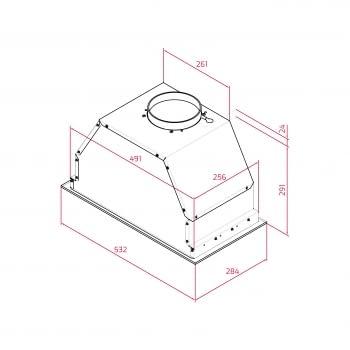 Campana Integrable Teka GFL 57650 EOS IX IX (Ref. 113100002) Inoxidable con 3 velocidades de máx. 800 m³/h | Clase A - 10