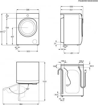Lavadora libre instalación Electrolux EW6F4923EB | 9 kg | Inverter | Clase D | Stock - 12