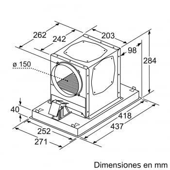 Accesorio Kit de recirculación Clean Air Plus SIEMENS LZ21JCC56 INOX - 4