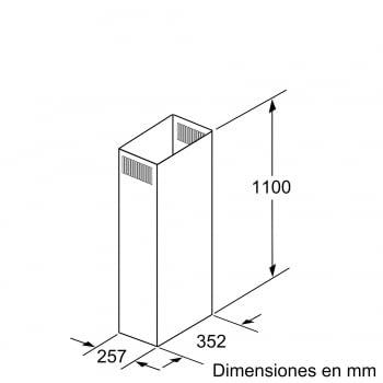 Accesorio para campana Bosch DHZ1246 , 1100 mm - 2