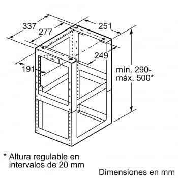 Kit de sujección para campana Bosch DHZ1251 - 2