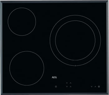 Placa Vitrocerámica AEG HK623021FB | 60 cm | 3 quemadores | Panel de Control táctil independiente