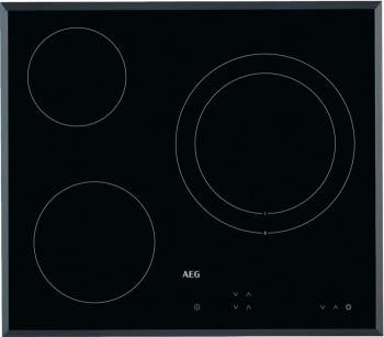 Placa Vitrocerámica AEG HK623020FB | 60 cm | 3 quemadores | Panel de Control táctil independiente