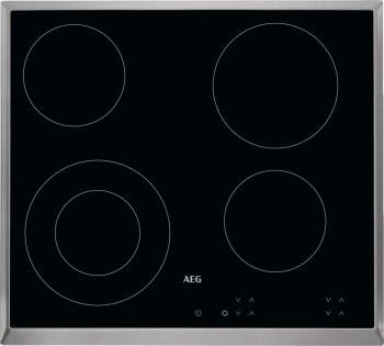 Placa Vitrocerámica AEG HK624010XB 60 cm Inoxidable 4 zonas de cocción (27 cm)