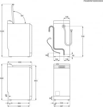 Lavadora de Carga Superior AEG L7TBE721 | Serie 7000 ProSteam | 7 Kg 1200 rpm | ProSense | Inverter | A+++ -20% - 10