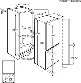 Frigorífico Combi Electrolux ENT3FF18S   Integrable   177.2 x 54 cm   Tecnología Low Frost   Clase F - 5