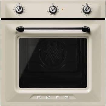 Horno Victoria Smeg SF6905P1 Crema, Termoventilado, con 8 funciones de cocción y limpieza Vapor Clean | Clase A