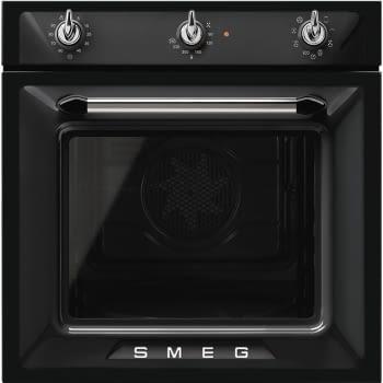 Horno Victoria Smeg SF6905N1 Negro, Termoventilado, con 8 funciones de cocción y limpieza Vapor Clean | Clase A