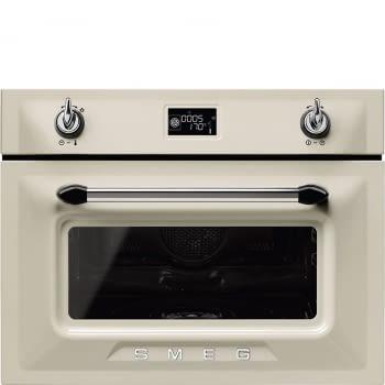 Horno a Vapor Victoria Smeg SF4920VCP1 Crema, compacto 45 cm, con 14 funciones de cocción y limpieza Vapor Clean | Clase A+