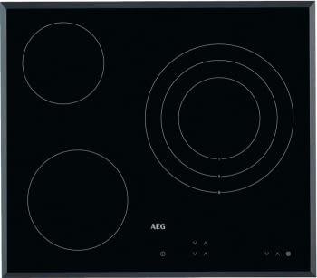 Placa Vitrocerámica AEG HK623020FB 60 cm Inoxidable 3 zonas (1 triple) de cocción