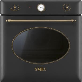 Horno Colonial Smeg SF855AO Antracita, con 9 funciones de cocción y limpieza Vapor Clean | Clase A