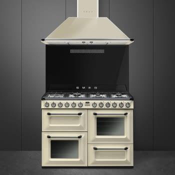 Cocina Victoria Smeg TR4110P1 Crema de 110 cm, Encimera de Gas con 7 Zonas de cocción, 3 Hornos con limpieza Vapor Clean   Clase A - 3