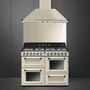 Cocina Victoria Smeg TR4110P1 Crema de 110 cm, Encimera de Gas con 7 Zonas de cocción, 3 Hornos con limpieza Vapor Clean   Clase A - 4