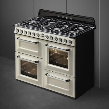 Cocina Victoria Smeg TR4110P1 Crema de 110 cm, Encimera de Gas con 7 Zonas de cocción, 3 Hornos con limpieza Vapor Clean   Clase A - 5