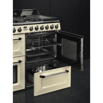 Cocina Victoria Smeg TR4110P1 Crema de 110 cm, Encimera de Gas con 7 Zonas de cocción, 3 Hornos con limpieza Vapor Clean   Clase A - 7