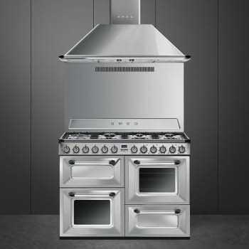 Cocina Victoria Smeg TR4110X Inoxidable de 110 cm, Encimera de Gas con 7 Zonas de cocción, 3 Hornos con limpieza Vapor Clean | Clase A - 2
