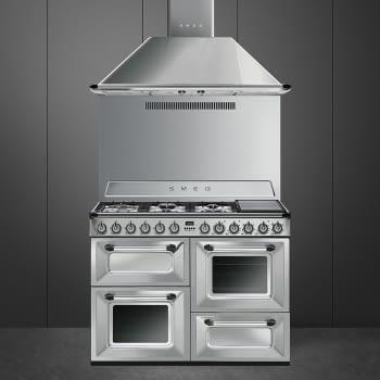 Cocina Victoria Smeg TR4110X Inoxidable de 110 cm, Encimera de Gas con 7 Zonas de cocción, 3 Hornos con limpieza Vapor Clean | Clase A - 3