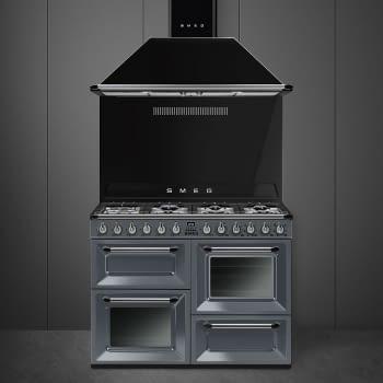 Cocina Victoria Smeg TR4110GR Gris de 110 cm, Encimera de Gas con 7 Zonas de cocción, 3 Hornos con limpieza Vapor Clean   Clase A - 2