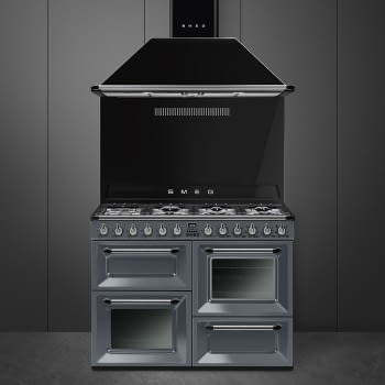 Cocina Victoria Smeg TR4110GR Gris de 110 cm, Encimera de Gas con 7 Zonas de cocción, 3 Hornos con limpieza Vapor Clean   Clase A - 3