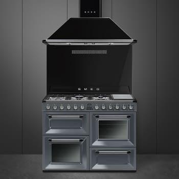 Cocina Victoria Smeg TR4110GR Gris de 110 cm, Encimera de Gas con 7 Zonas de cocción, 3 Hornos con limpieza Vapor Clean   Clase A - 4