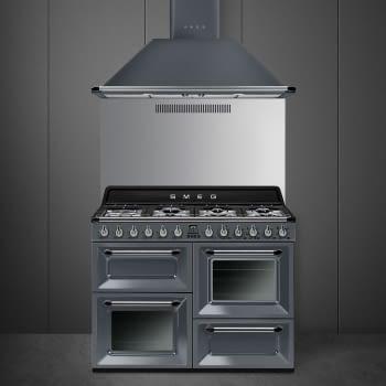 Cocina Victoria Smeg TR4110GR Gris de 110 cm, Encimera de Gas con 7 Zonas de cocción, 3 Hornos con limpieza Vapor Clean   Clase A - 5