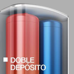 Fleck DUO5 50L Termo Eléctrico 50 Litros Alta Producción ACS | Multiposición - 2