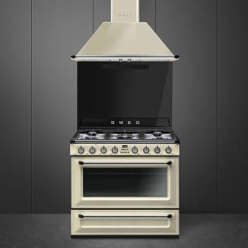 Cocina Victoria Smeg TR90P9 Crema de 90 cm, Encimera de Gas con 5 Zonas de cocción, 1 Horno Termoventilado con limpieza Vapor Clean   Clase A - 2