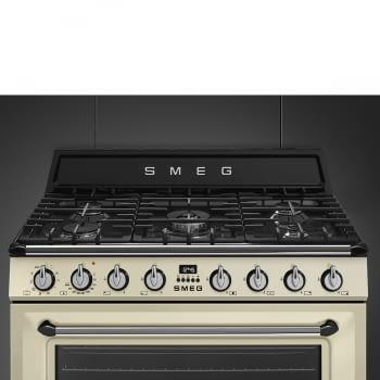 Cocina Victoria Smeg TR90P9 Crema de 90 cm, Encimera de Gas con 5 Zonas de cocción, 1 Horno Termoventilado con limpieza Vapor Clean   Clase A - 7