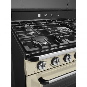 Cocina Victoria Smeg TR90P9 Crema de 90 cm, Encimera de Gas con 5 Zonas de cocción, 1 Horno Termoventilado con limpieza Vapor Clean   Clase A - 8