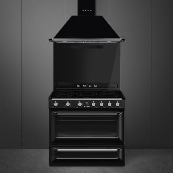 Cocina Victoria Smeg TR90IBL9 Negra de 90 cm, Encimera de Inducción con 5 Zonas de inducción y 1 Horno Termoventilado con limpieza Vapor Clean | Clase A - 2