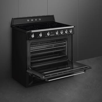 Cocina Victoria Smeg TR90IBL9 Negra de 90 cm, Encimera de Inducción con 5 Zonas de inducción y 1 Horno Termoventilado con limpieza Vapor Clean | Clase A - 5