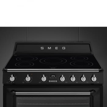 Cocina Victoria Smeg TR90IBL9 Negra de 90 cm, Encimera de Inducción con 5 Zonas de inducción y 1 Horno Termoventilado con limpieza Vapor Clean | Clase A - 7