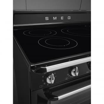 Cocina Victoria Smeg TR90IBL9 Negra de 90 cm, Encimera de Inducción con 5 Zonas de inducción y 1 Horno Termoventilado con limpieza Vapor Clean | Clase A - 8