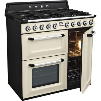 Cocina Victoria Smeg TR93P Crema de 90 cm, Encimera de Gas con 6 Quemadores de Gas y 3 Hornos Termoventilado con limpieza Vapor Clean | Clase A - 3