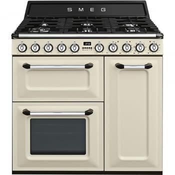 Cocina Victoria Smeg TR93P Crema de 90 cm, Encimera de Gas con 6 Quemadores de Gas y 3 Hornos Termoventilado con limpieza Vapor Clean | Clase A - 4