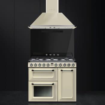 Cocina Victoria Smeg TR93P Crema de 90 cm, Encimera de Gas con 6 Quemadores de Gas y 3 Hornos Termoventilado con limpieza Vapor Clean | Clase A - 6