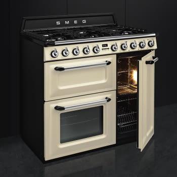 Cocina Victoria Smeg TR93P Crema de 90 cm, Encimera de Gas con 6 Quemadores de Gas y 3 Hornos Termoventilado con limpieza Vapor Clean | Clase A - 7