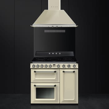 Cocina Victoria Smeg TR93IP Crema de 90 cm, Encimera de Inducción con 5 Zonas y 3 Hornos Termoventilados con limpieza Vapor Clean | Clase A - 2