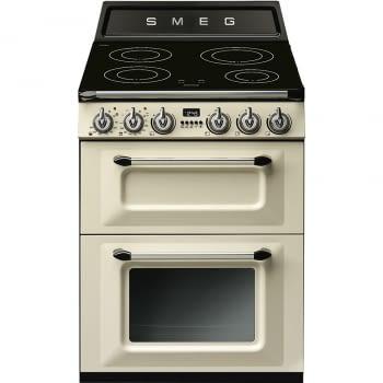 Cocina Victoria Smeg TR62IP Crema de 60 cm, Encimera de Inducción con 4 Zonas y 2 Hornos Termoventilados | Clase A