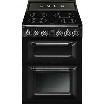 Cocina Victoria Smeg TR62IBL Negra de 60 cm, Encimera de Inducción con 4 Zonas y 2 Hornos Termoventilados | Clase A