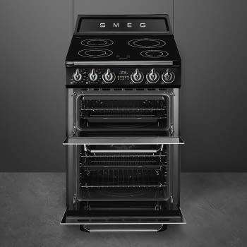Cocina Victoria Smeg TR62IBL Negra de 60 cm, Encimera de Inducción con 4 Zonas y 2 Hornos Termoventilados | Clase A - 2