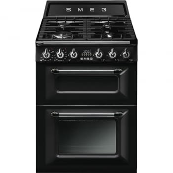 Cocina Victoria Smeg TR62BL Negra de 60 cm, Encimera de Gas con 4 Quemadores y 2 Hornos Termoventilados | Clase A (duplicate)