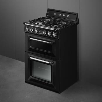 Cocina Victoria Smeg TR62BL Negra de 60 cm, Encimera de Gas con 4 Quemadores y 2 Hornos Termoventilados | Clase A (duplicate) - 2
