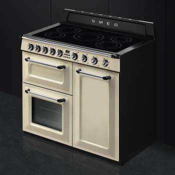 Cocina Victoria Smeg TR103IP Crema de 100 cm, Encimera de Inducción con 6 Zonas y 3 Hornos Termoventilados   Clase A - 2