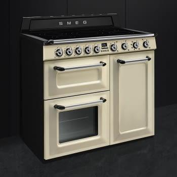 Cocina Victoria Smeg TR103IP Crema de 100 cm, Encimera de Inducción con 6 Zonas y 3 Hornos Termoventilados   Clase A - 3